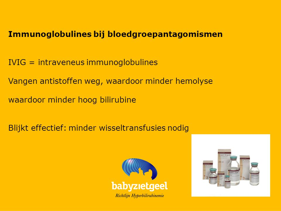 Immunoglobulines bij bloedgroepantagomismen