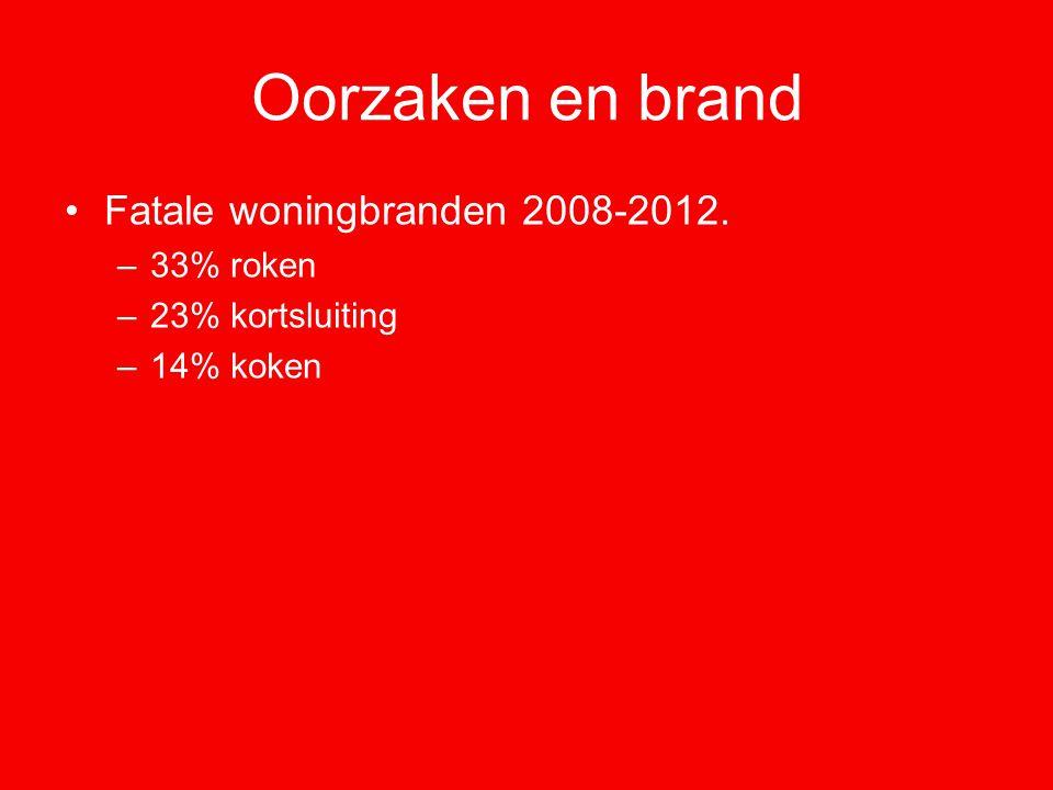 Oorzaken en brand Fatale woningbranden 2008-2012. 33% roken
