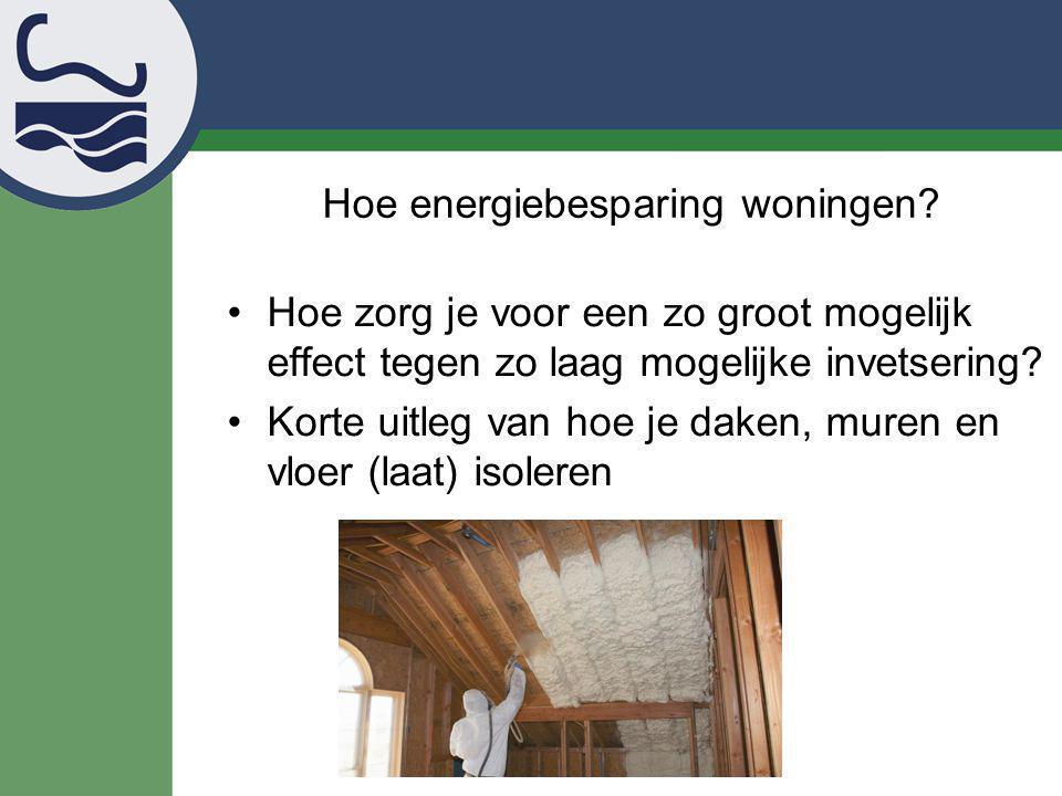 Hoe energiebesparing woningen
