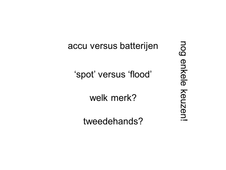 accu versus batterijen