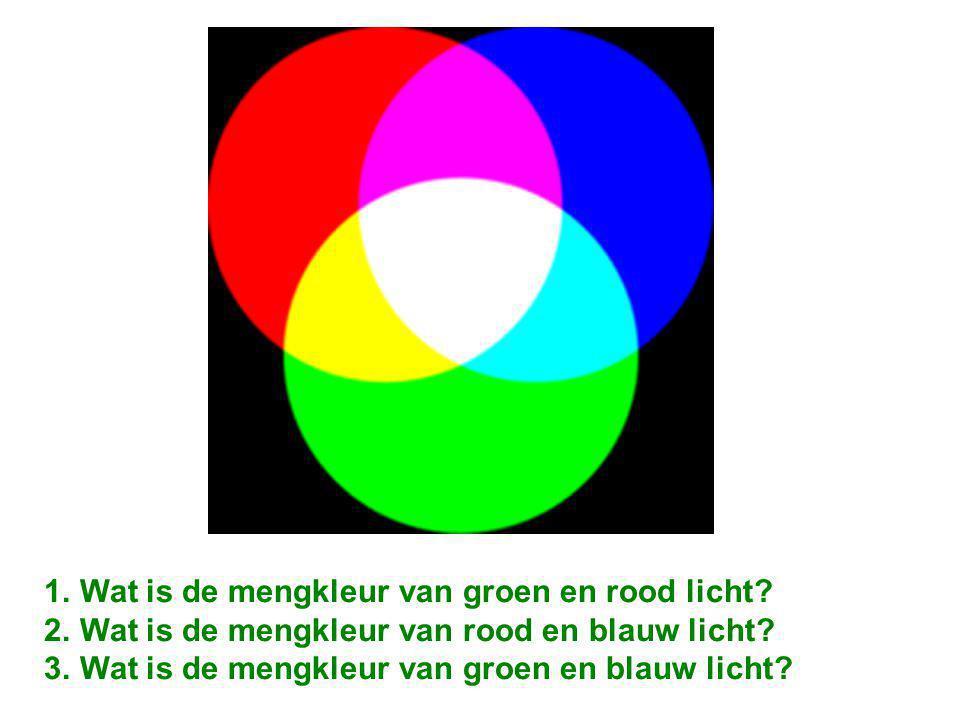 Wat is de mengkleur van groen en rood licht