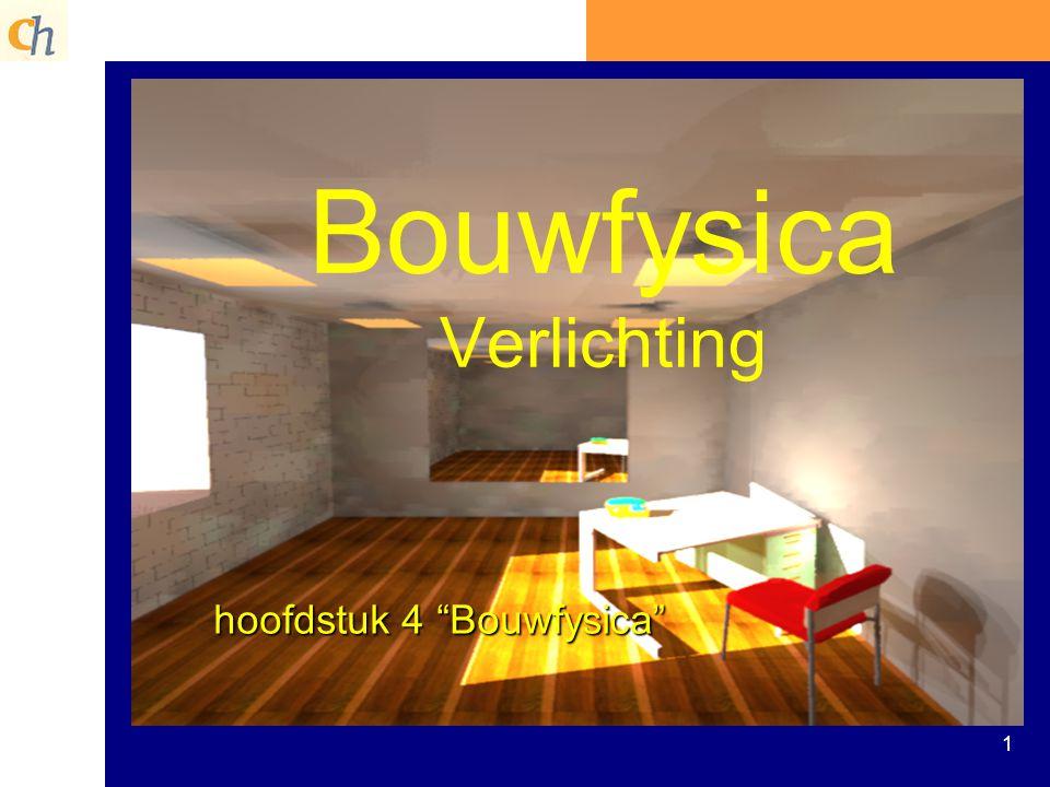 Bouwfysica Verlichting