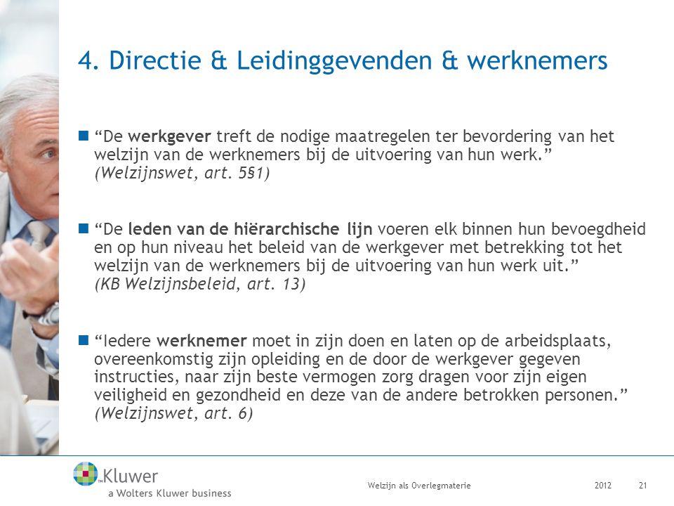 4. Directie & Leidinggevenden & werknemers