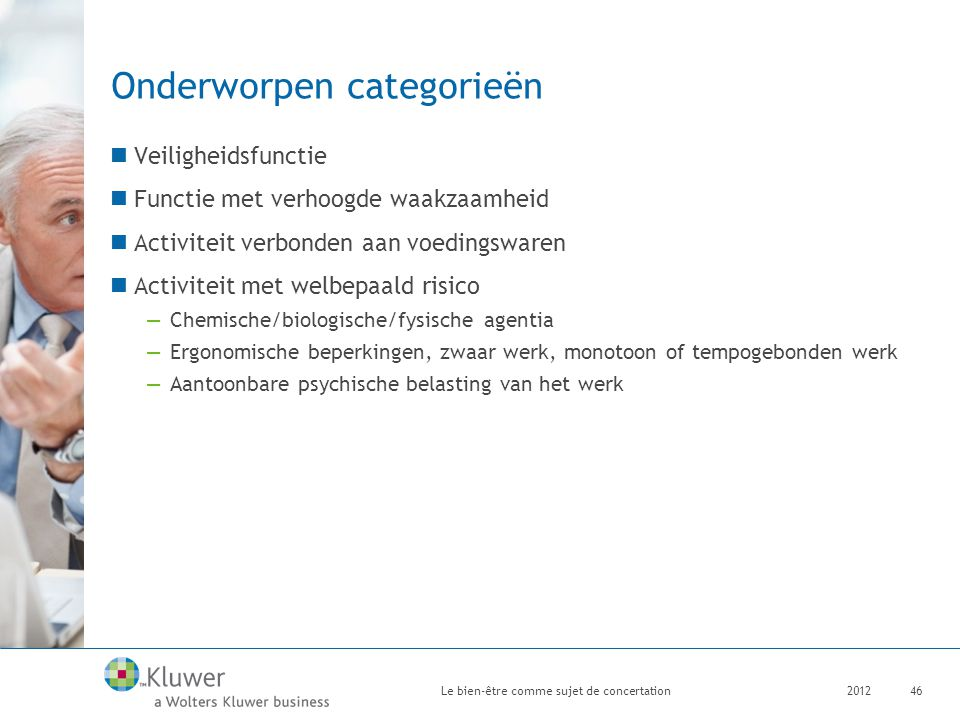 Onderworpen categorieën
