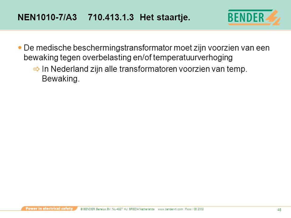NEN1010-7/A3 710.413.1.3 Het staartje.