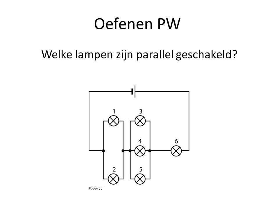 Welke lampen zijn parallel geschakeld