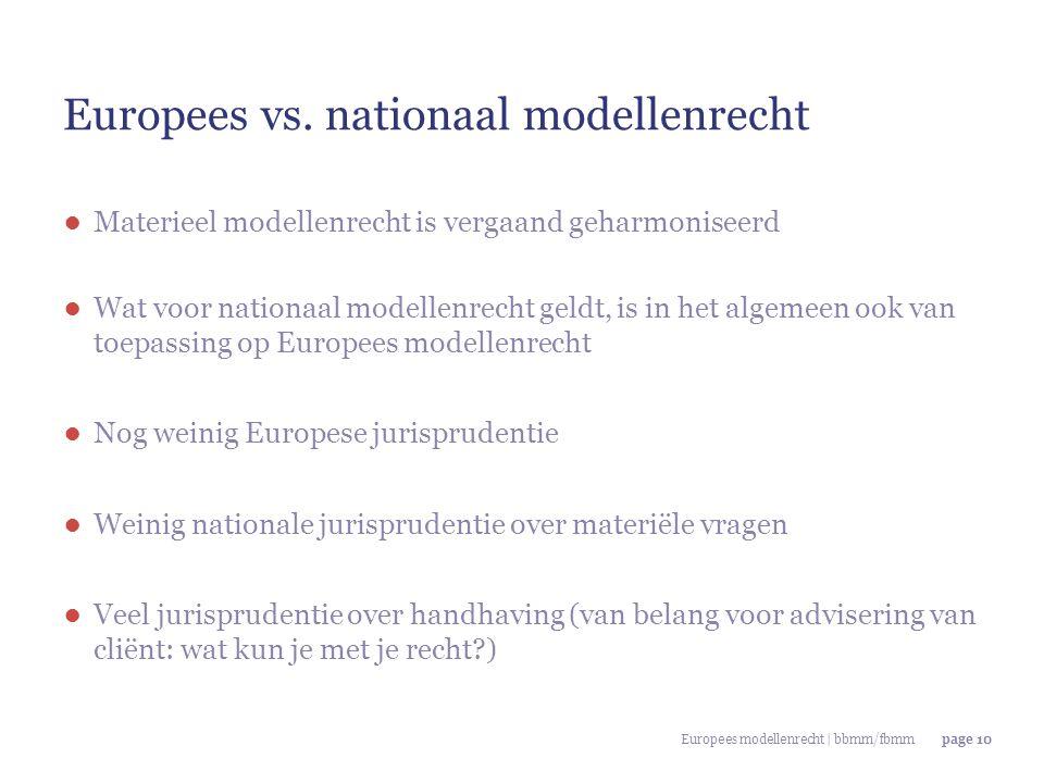 Europees vs. nationaal modellenrecht