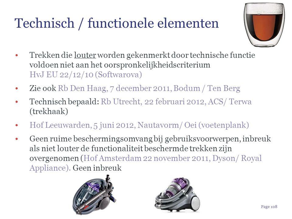 Technisch / functionele elementen
