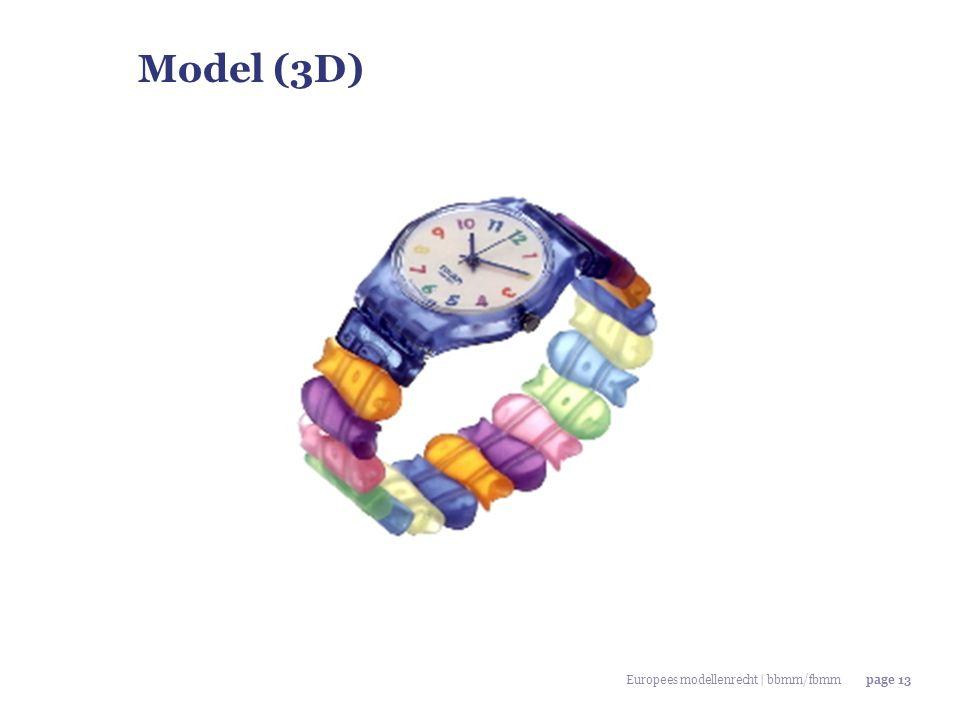 Model (3D) Europees modellenrecht | bbmm/fbmm