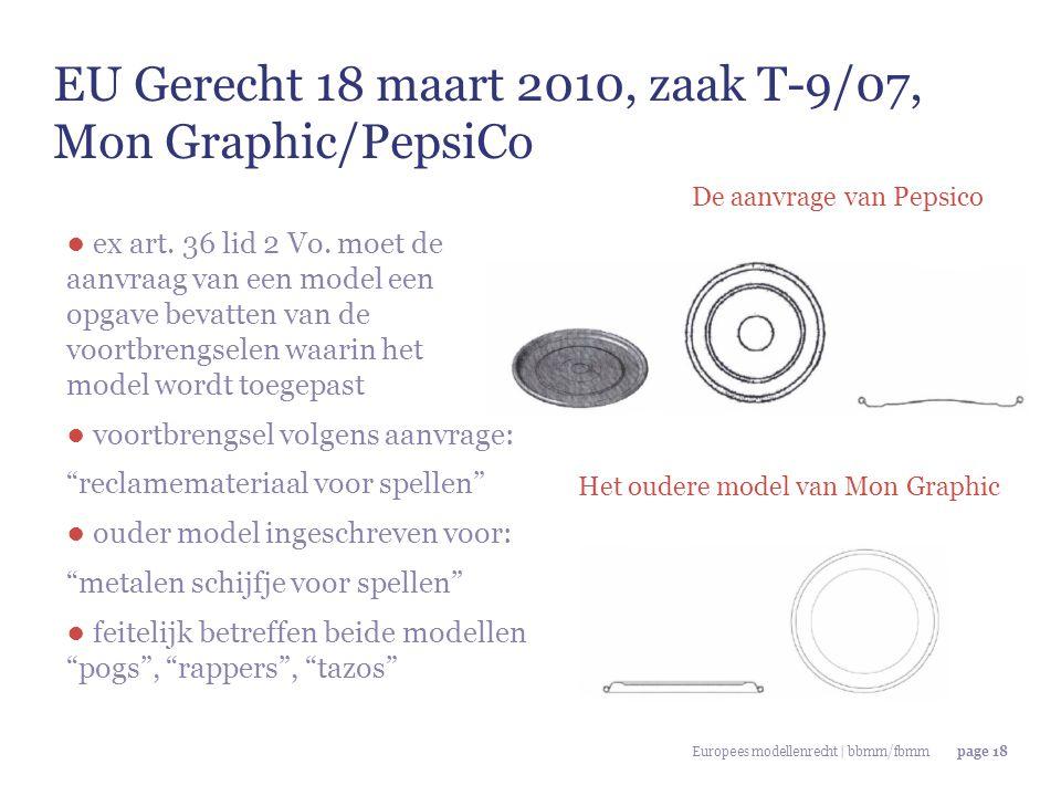 EU Gerecht 18 maart 2010, zaak T-9/07, Mon Graphic/PepsiCo