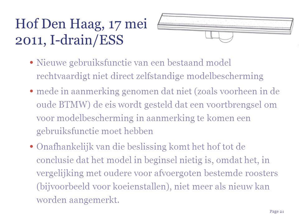 Hof Den Haag, 17 mei 2011, I-drain/ESS