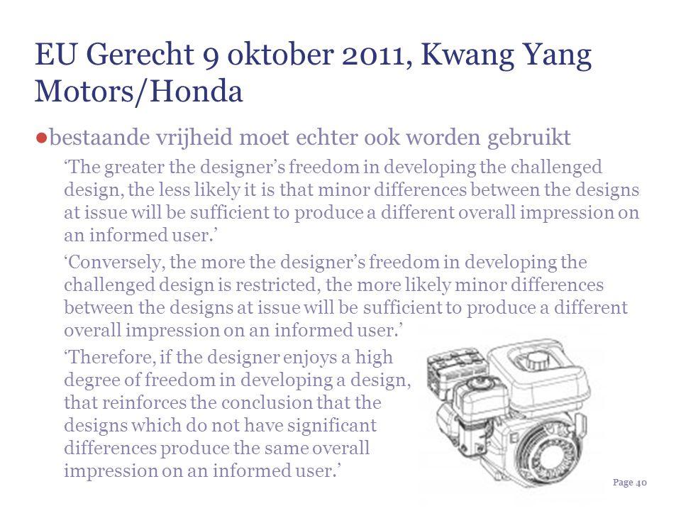 EU Gerecht 9 oktober 2011, Kwang Yang Motors/Honda