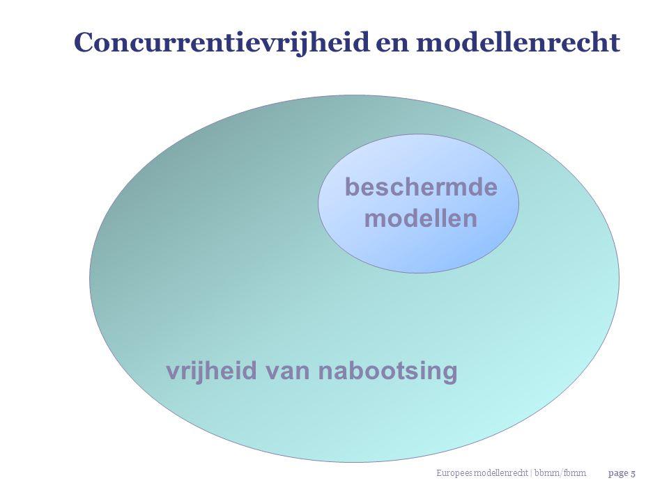 Concurrentievrijheid en modellenrecht