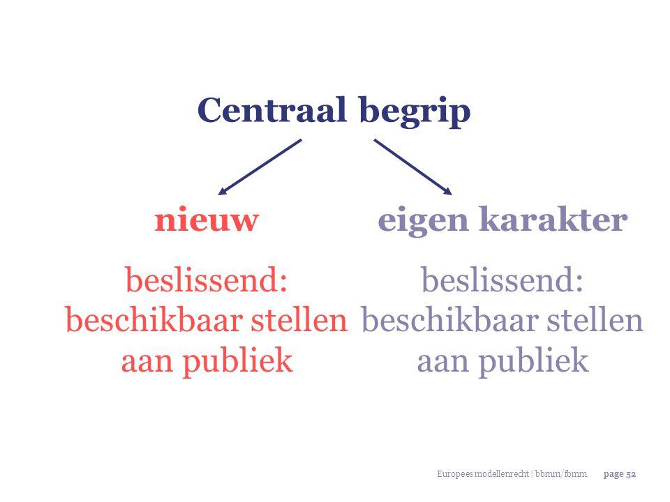 Centraal begrip nieuw beslissend: beschikbaar stellen aan publiek