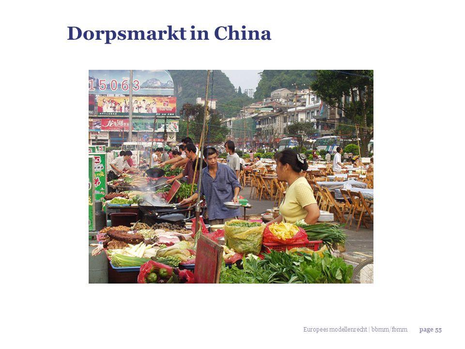 Dorpsmarkt in China Europees modellenrecht | bbmm/fbmm