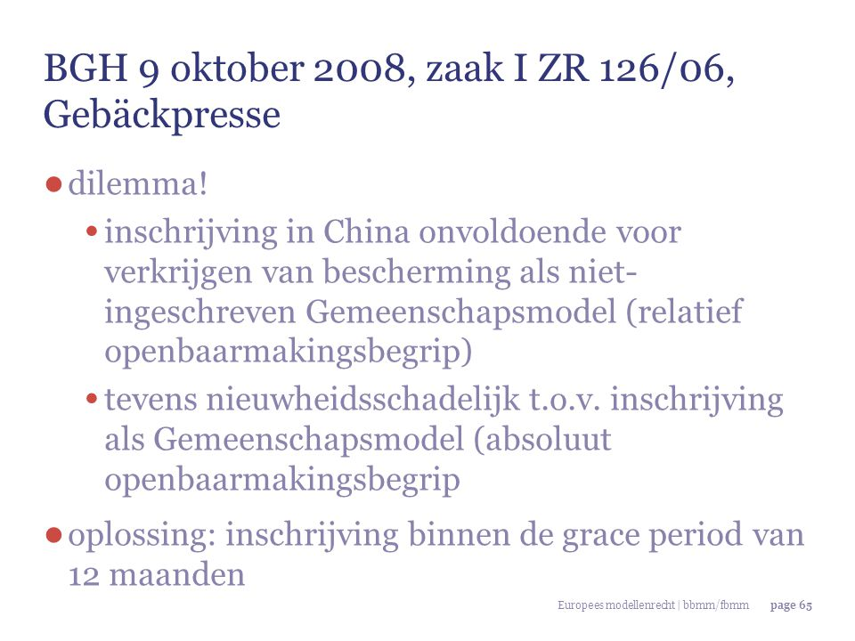 BGH 9 oktober 2008, zaak I ZR 126/06, Gebäckpresse