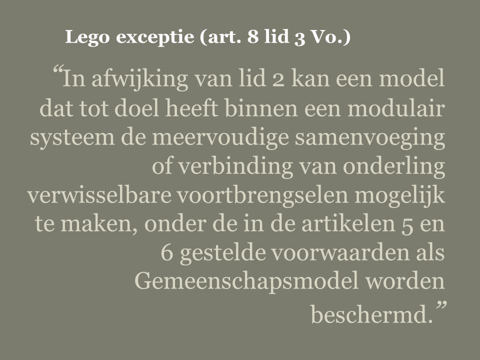 Lego exceptie (art. 8 lid 3 Vo.)