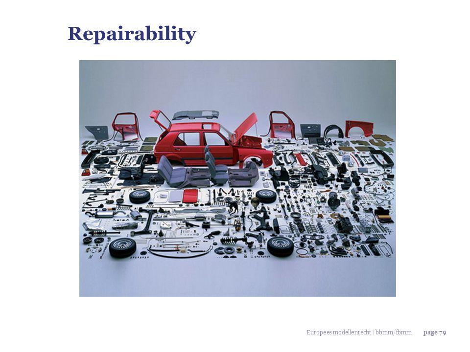 Repairability Europees modellenrecht | bbmm/fbmm