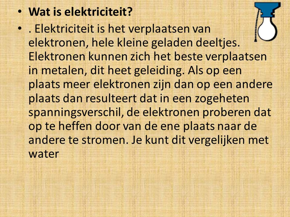 Wat is elektriciteit