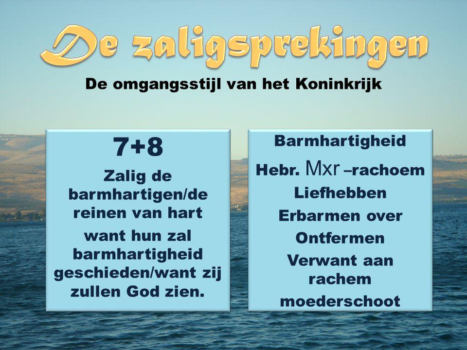 7+8 De omgangsstijl van het Koninkrijk Barmhartigheid