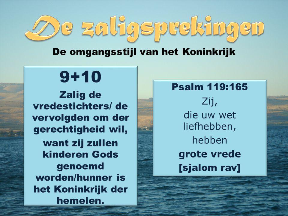 9+10 De omgangsstijl van het Koninkrijk