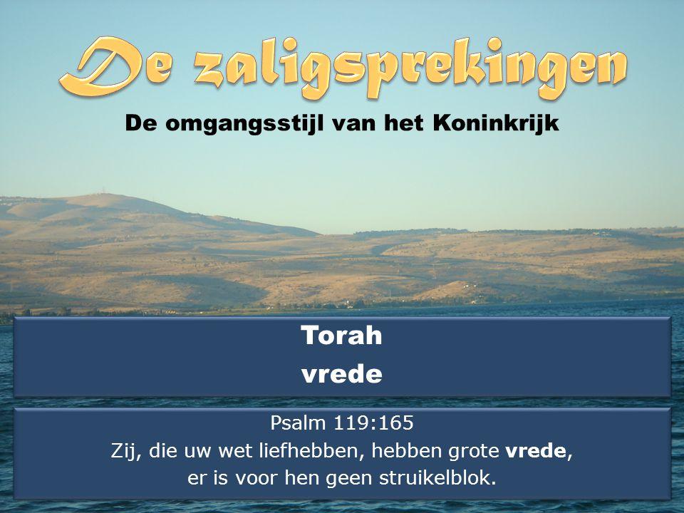 Torah vrede De omgangsstijl van het Koninkrijk Psalm 119:165