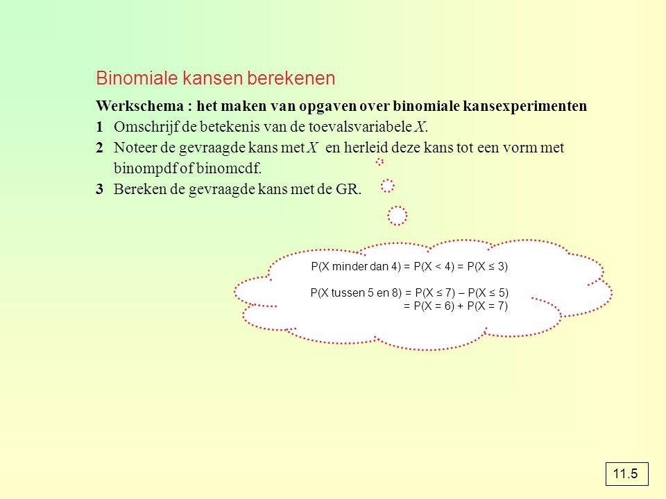 Binomiale kansen berekenen
