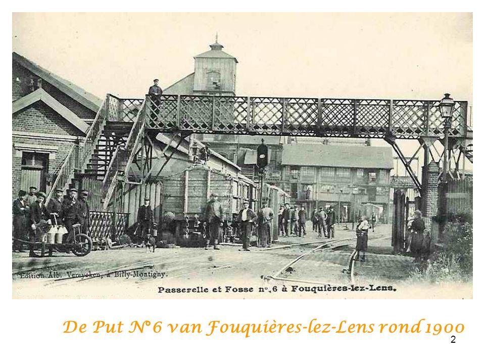 De Put N°6 van Fouquières-lez-Lens rond 1900