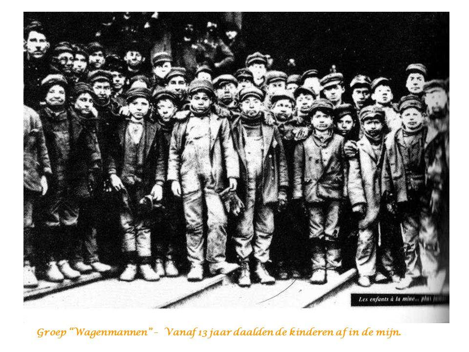 Groep Wagenmannen – Vanaf 13 jaar daalden de kinderen af in de mijn.