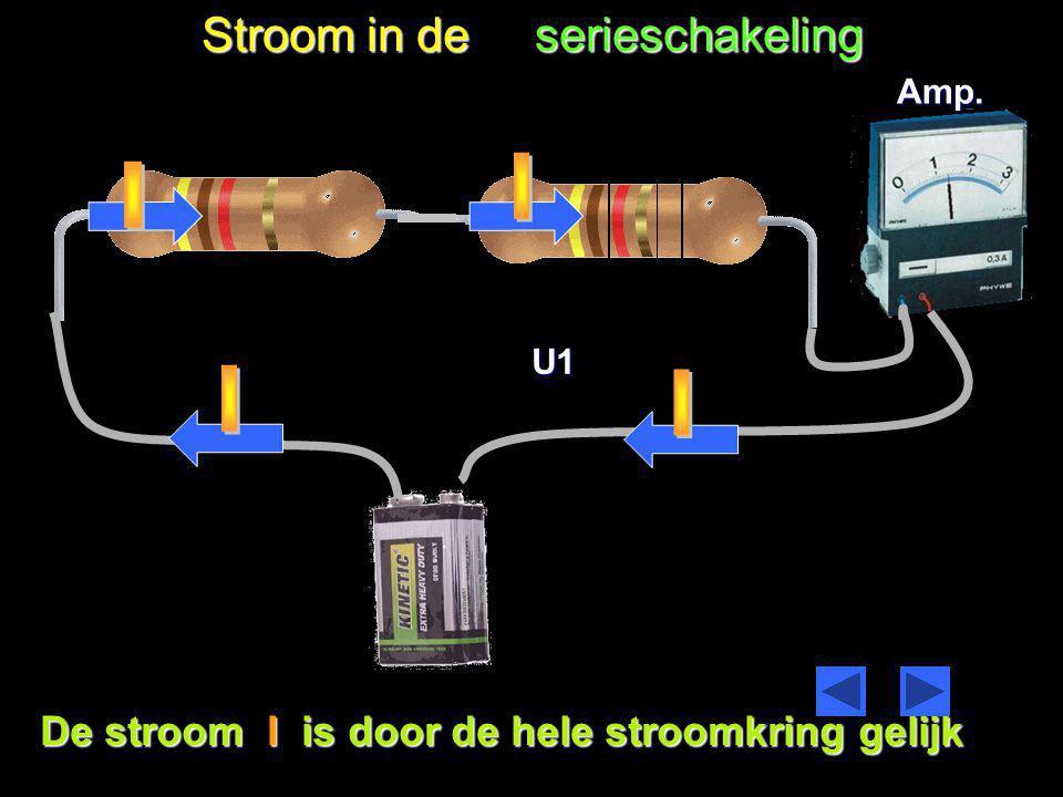 Stroom in de serieschakeling