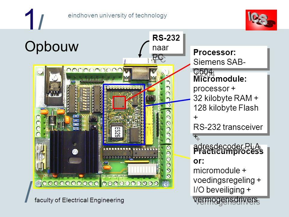Opbouw RS-232 naar PC Processor: Siemens SAB-C504