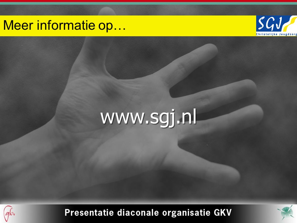 Meer informatie op… www.sgj.nl