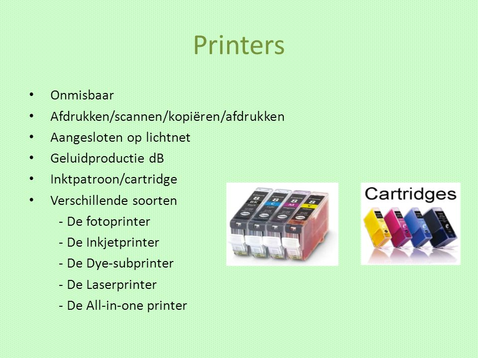 Printers Onmisbaar Afdrukken/scannen/kopiëren/afdrukken