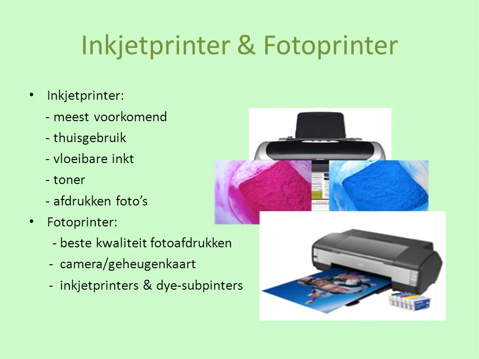 Inkjetprinter & Fotoprinter