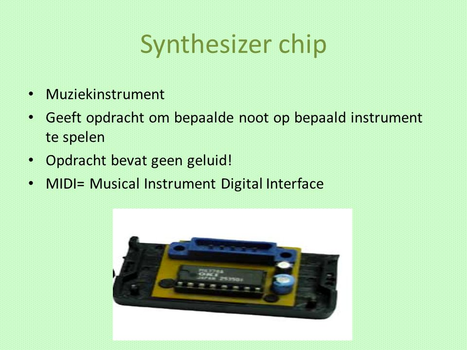 Synthesizer chip Muziekinstrument