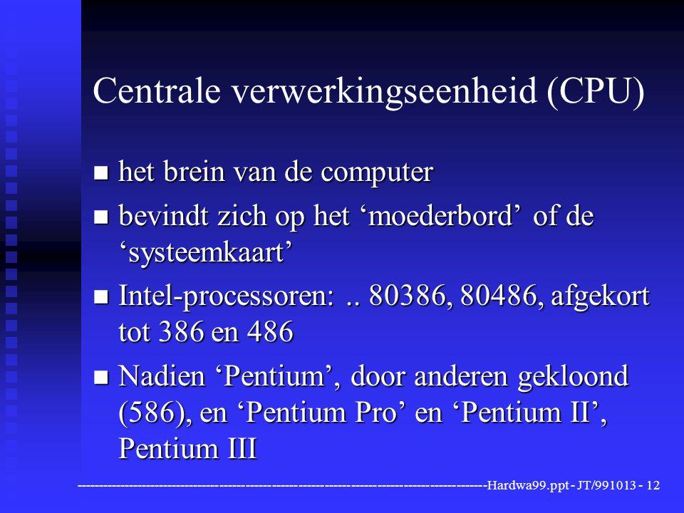 Centrale verwerkingseenheid (CPU)