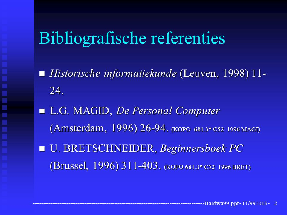 Bibliografische referenties