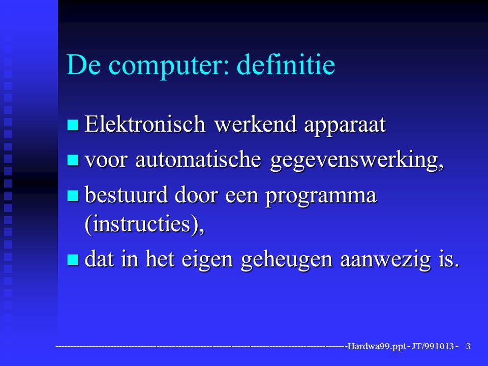 De computer: definitie