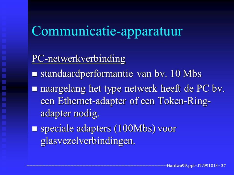 Communicatie-apparatuur