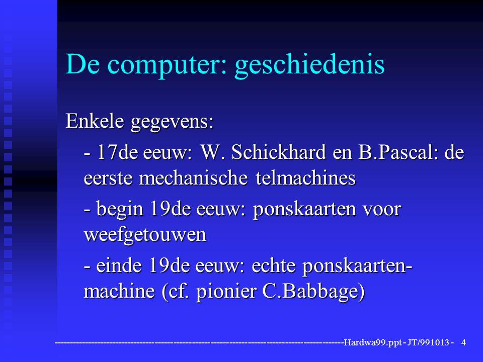 De computer: geschiedenis