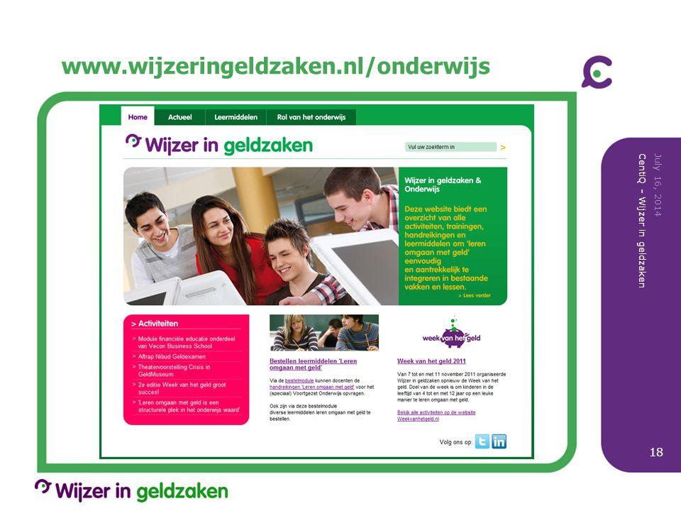 www.wijzeringeldzaken.nl/onderwijs April 4, 2017
