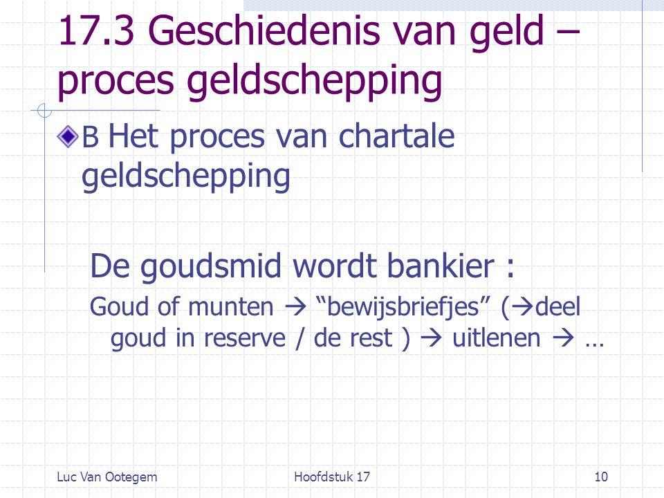 17.3 Geschiedenis van geld – proces geldschepping