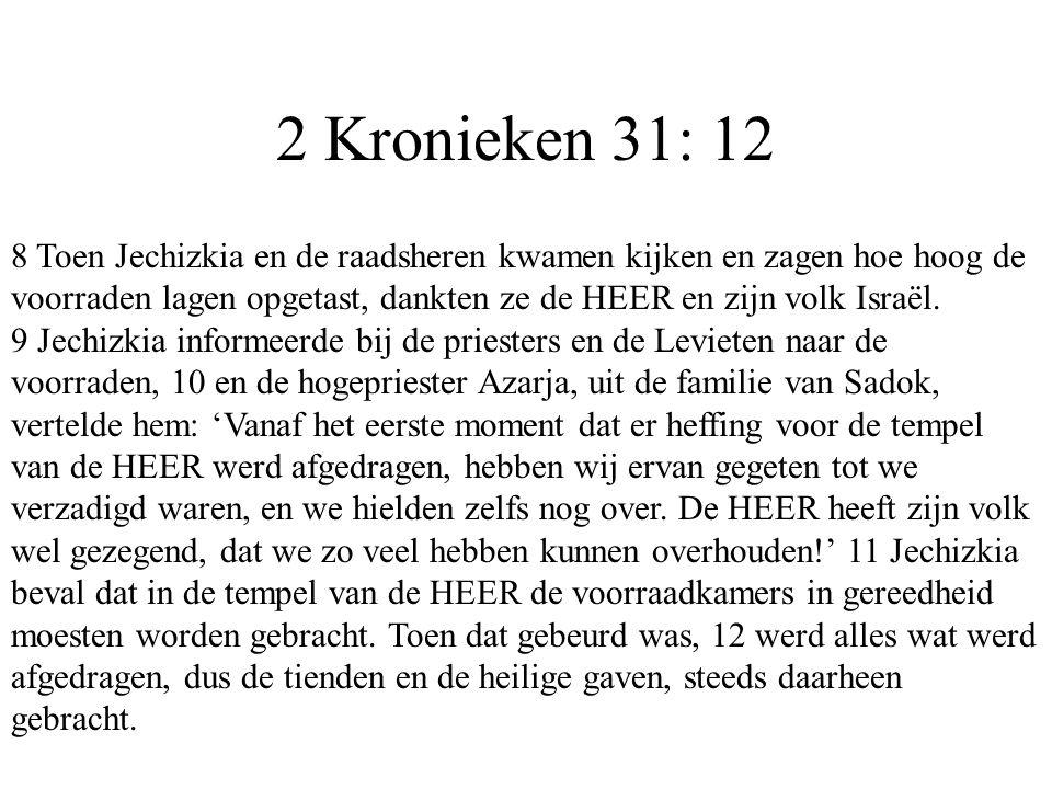 2 Kronieken 31: 12