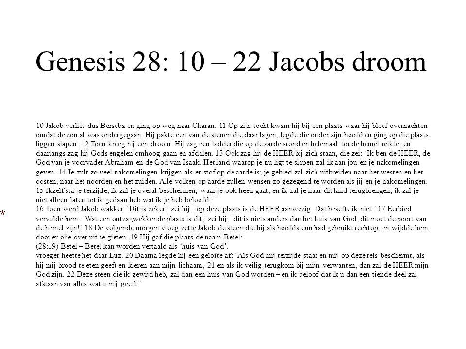 Genesis 28: 10 – 22 Jacobs droom