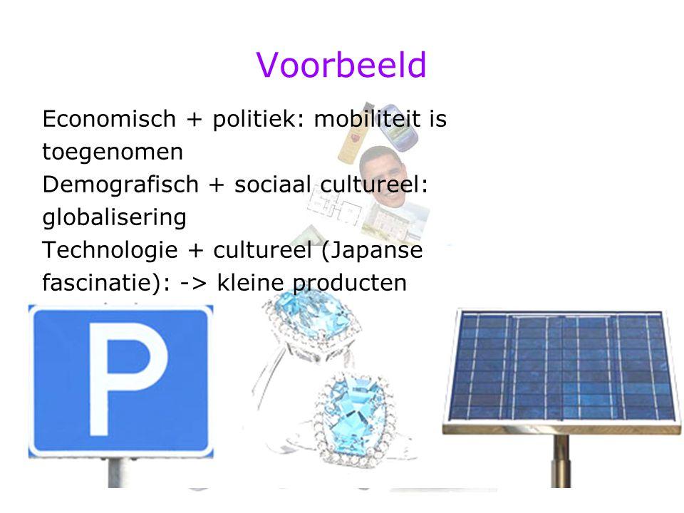 Voorbeeld Economisch + politiek: mobiliteit is toegenomen