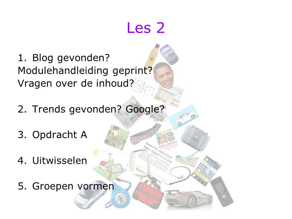Les 2 Blog gevonden Modulehandleiding geprint Vragen over de inhoud