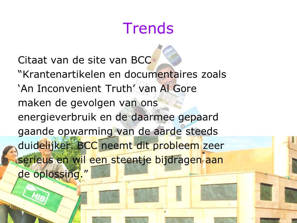 Trends Citaat van de site van BCC
