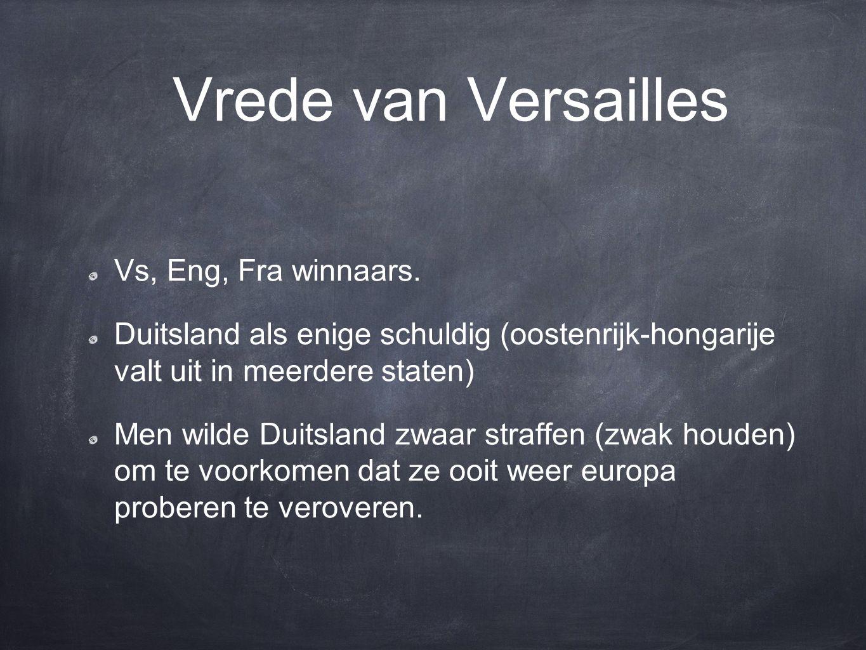 Vrede van Versailles Vs, Eng, Fra winnaars.
