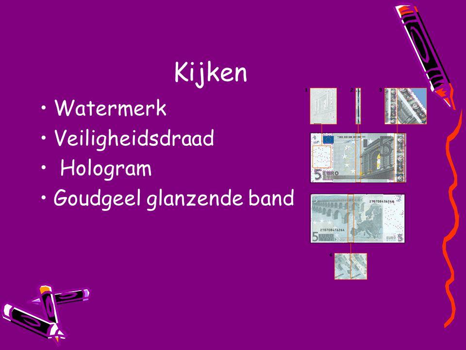 Kijken Watermerk Veiligheidsdraad Hologram Goudgeel glanzende band