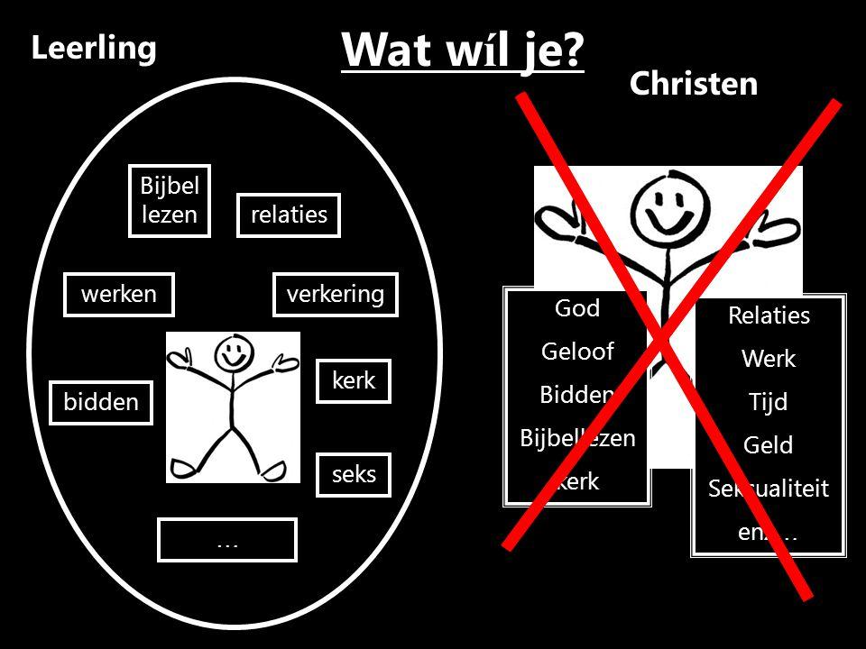 Wat wíl je Leerling Christen Bijbel lezen relaties werken verkering